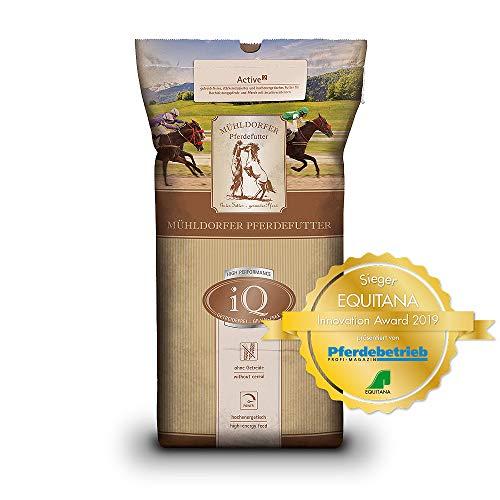 Mühldorfer iQ Active², 20 kg, getreidefreies Pferdefutter, hochenergetisch, stärke- und zuckerreduziert, für alle Pferde, ideal für Sport, Leistung und Zucht