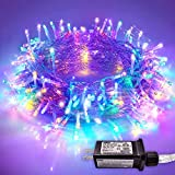 JMEXSUSS 66ft 200 LED Christmas Lights Multicolor String Lights Pulg in Christmas String Lights Indoor Outdoor Fairy String Lights 8 Modes Waterproof for Christmas Tree Wedding Party