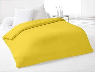 Soleil d'ocre Funda de edredón Lisa 220x240 cm de algodón Amarilla
