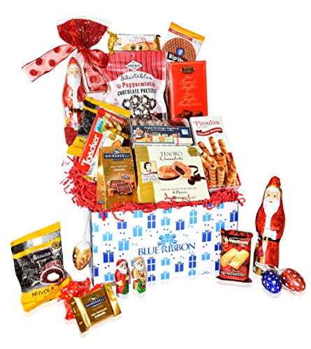 Christmas Chocolate & Snacks Box Variety Gift Care Package Basket – Truffles, Cookies, Santa, Cady Pack for Office, Girl, Schools, Friends & Family, Military, College, Son, Daughter, Men, Women, Kids