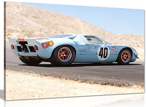 Kunstdruck auf Leinwand, Motiv: Ford Gt40 Gulf Oil Le Mans 1968, 76,2 x 50,8 cm