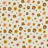 Schickliesel Organic Musselin Meterware Sommerblumen (Sand)