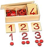 Ziffern und Chips - das Montessori Material zum Zahlenraum bis 10 Lernen