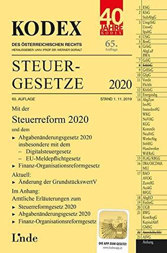 KODEX Steuergesetze 2020 (Kodex des Österreichischen Rechts)