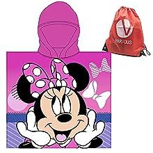 Toalla Infantil con Capucha de niño y niña Licencia Oficial Disney Minnie 9236