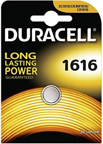 Batteria Duracell a bottone, al litio, CR1616 3v, confezione da 1