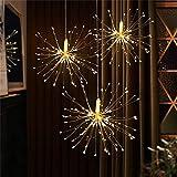 QYJY Solar Garden Lights DIY Outdoor Garden Decoration LED Firework Explosion Fairy Light with Solar Power Hanging Starburst LED String Garland (Color : 200LED)