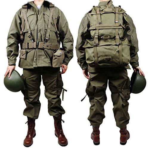 JXS U.S. M43 Militär-Anzug, 100% Baumwolle, Jacke/Top Suit – WW2 US Soldaten Ausrüstungs-Kit – Korean War Equipment Replika, 36