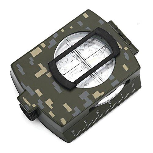 Dwawoo outdoor militair marskompas waterdicht vouwen multifunctioneel messing kompas voor kamperen wandelen met zak