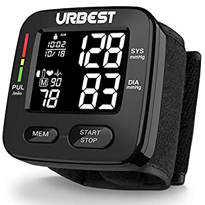 Blood Pressure Monitor-Wrist Accurate Automatic Digital bp Monitor with Large LCD Backlight Display and Includes Batteries,High Blood Pressure Machine Cuff with 180 Memories 2 Users Mode