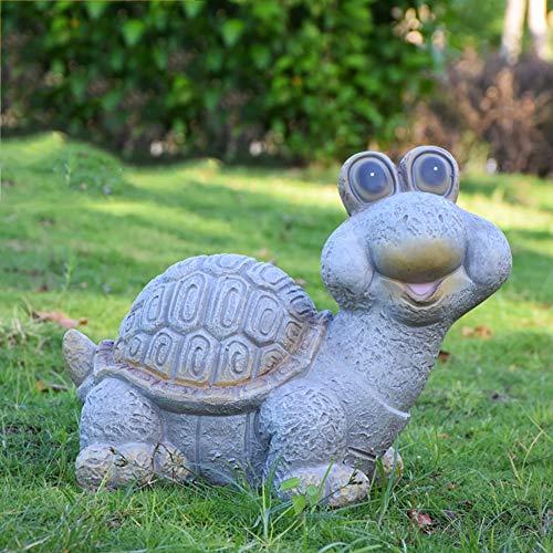 RPLW Harz Dolomit Schildkröte Schnecke Gartenstatue,Indoor Outdoor Yard Dekoration,Rasen-dekor Skulptur Für Your Patio & Yard A 39x27x31cm