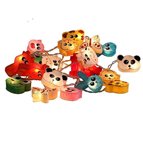 Lanterne animali variopinti in Papier Lichterketten Weihnachtsdeko Kinderzimmer Von Chainupon Tiere