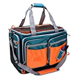 OSAGE RIVER Large Saltwater Resistant Fishing Tackle Bag, Heavy-Duty Tackle Box Organizer, Waterproof Non-Slip Bottom, Green