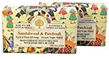 Wavertree & London SandalWood Patchouli (2 Bars), 7oz Moisturizing Natural Soap Bar, French -Milled and enriched with Shea Butter