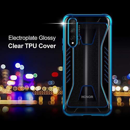 CRESEE für Huawei Nova 5T / Honor 20 Hülle Case, Schutzhülle Transparente Dünn Weich Silikon Cover Bumper Stoßfest Handyhülle Fall für Huawei Nova 5T/ Honor 20 (Blau) - 2