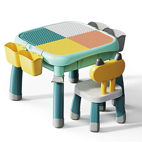 N/Z Living Equipment Multi-Aktivitätstabelle Baustein-Spiele-Tabelle Entwickeln Sie 3D-Imagination-Puzzle-Konstruktionsspiele Kompatibles Ziegelspielzeug (Farbe: Mehrfarbig Größe: One Szie)