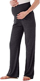 Women's Maternity Wide/Straight Versatile Comfy Palazzo Lounge Pants Stretch Pregnancy Trousers
