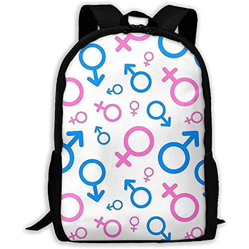 Lmtt Rucksack Männer und Frauen Piktogramme Mars Venus Icons Bookbag Casual Reisetasche für Teen Boys Girls