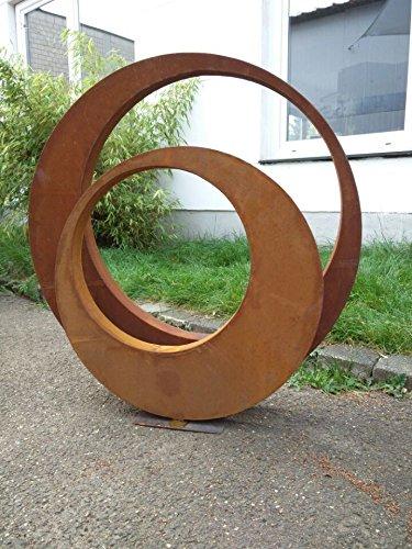 Zen Man 2st. Edelrost Gartenskulptur Rost Garten Figure aus Metall Gartenstecker Rost Gartendeko 80 * 5cm und 60 * 5cm 101506