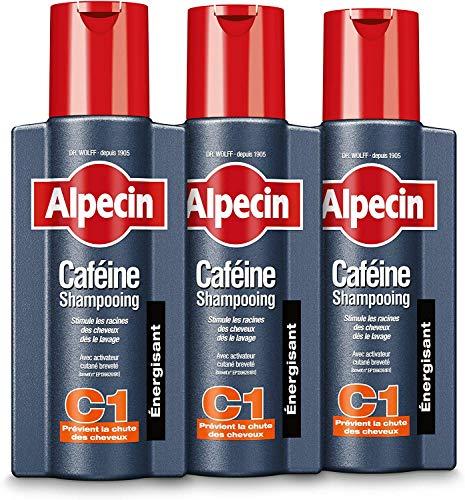 Alpecin Caféine Shampooing C1 3x 250ml   Shampoing anti chute de cheveux homme   Cheveux traitement calvitie   Alpecin caféine shampoing perte de cheveux homme