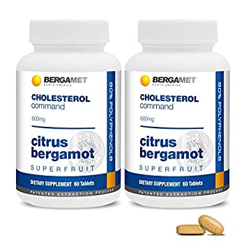 Citrus Bergamot SuperFruit | Cholesterol Command | 80% Polyphenol Formula | Maintain Healthy Cholesterol Heart & Blood Glucose Levels | High Strength | Supported by Clinical Studies | 2 Months