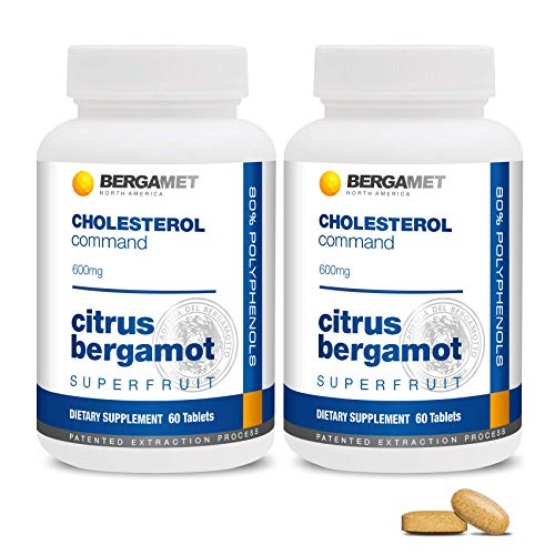 Citrus Bergamot SuperFruit | Cholesterol Command | 80% Polyphenol Formula | Maintain Healthy Cholesterol, Heart & Blood Glucose Levels | High Strength | Supported by Clinical Studies | 2 Months