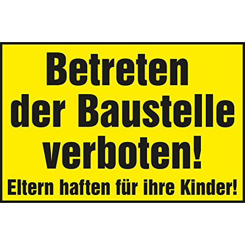 'Prohibido entrar la construcción de interfaz Prohibido. Padres haften para sus hijos.