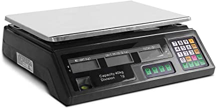 Giantz 40KG Kitchen Shop Electronic Digital Weight Scale-Black