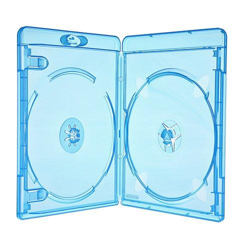 Amaray 10 Blu Ray Hüllen 11 mm für 2 Bluray,DVD,CD Disc Leerhülle