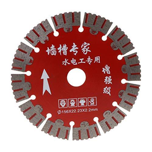 Cortador de sierra, YO-HAPPY 156 mm Hoja de sierra Disco de corte en seco súper delgado para mármol, concreto, baldosas de porcelana, granito, piedra de cuarzo, apto para cortadores, máquinas de corte
