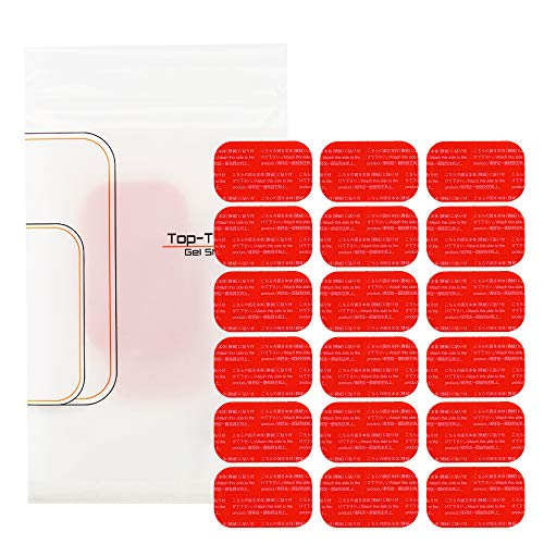 Top Touch 腹筋 チェスト 専用 計18枚 (3セット) 互換 高電導 EMS ジェルシート 3.7cm×6.4cm 日本製 ジェル 採用 ジェルシート 交換パッド abs アブズ チェスト シックス 交換 パッド フィット パット