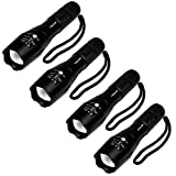 4 Pcs Military Grade 5 Mode XML T6 S3000 Lumens Tactical Led Waterproof Flashlight