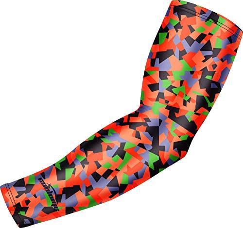 COOLOMG アームカバー スポーツ アームスリーブ 腕カバー UVカット 日焼け防止 男女兼用 冷感 一枚入り 子供用も可能