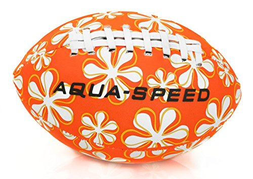 Aqua Speed® Splash Ball | Wasserball | Football | Strandball | Poolball | Wurfball | Neopren | Bunt | Nicht sinkend, Farbe:Orange