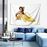 Nicholas Cage Sexy Banana Pose Tapestry Wall Hanging Tapestries As Wall Blanket Wall Art And Room Decor For Bedroom Living Room Dorm 60x40 Inch