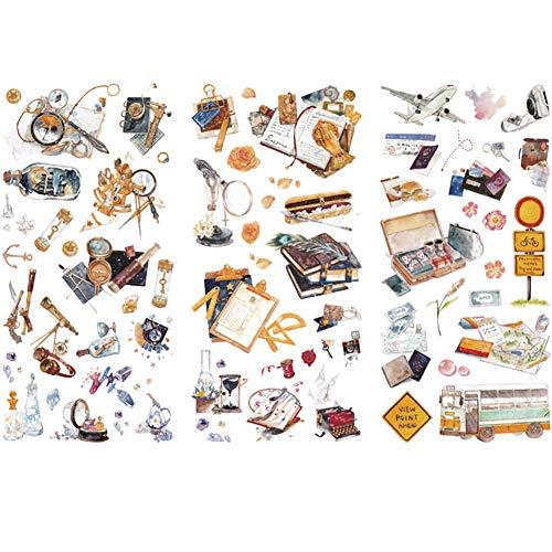 Vikenner 3 Piezas Alquimista Bullet Journal Stickers DIY Scrapbooking Pegatinas para Scrapbook y Bullet Journal Papelería Planificador Pegatinas Decoración - 10 x 20 cm