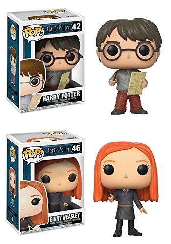 Funko POP! Harry Potter: Harry Potter w/ Marauders Map + Ginny Weasley - Stylized Movie Vinyl Figure Set NEW
