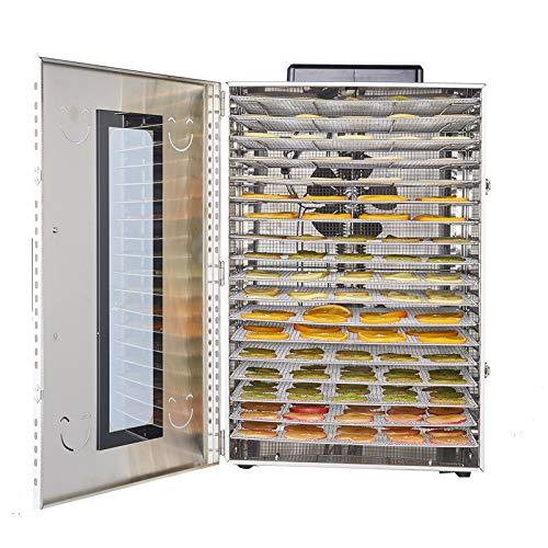 Deshidratador con regulador de temperatura, Temperatura Regulable 30~90℃ Deshidratador de Frutas y Verduras, Libre BPA