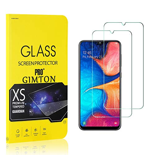 GIMTON Displayschutzfolie für Galaxy A20, 9H Härte, Anti Bläschen Displayschutz Schutzfolie für Samsung Galaxy A20, Einfach Installieren, 2 Stück