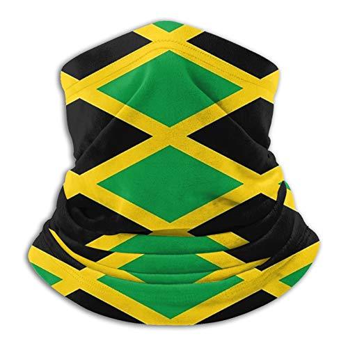 YBEAYQYXR Pasamontañas unisex de microfibra con la bandera de Jamaica Jamaica, protector solar a prueba de viento, pasamontañas para exteriores