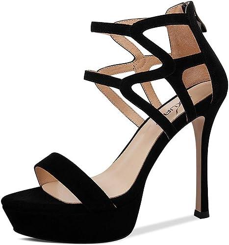 Sandales Chaussures et Sacs Chaussures Chaussures Chaussures Chaussures Femme pour Les Les dames à Talons Hauts D'été Discothèque Sexy Talons Hauts Chaussures Compensées en Cuir à Bout Ouver 683