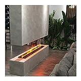 ADSE Chimeneas eléctricas Chimenea eléctrica Decorativa 39.4'/47.2' Panel Ultrafino Empotrado Simulación de Llama con...