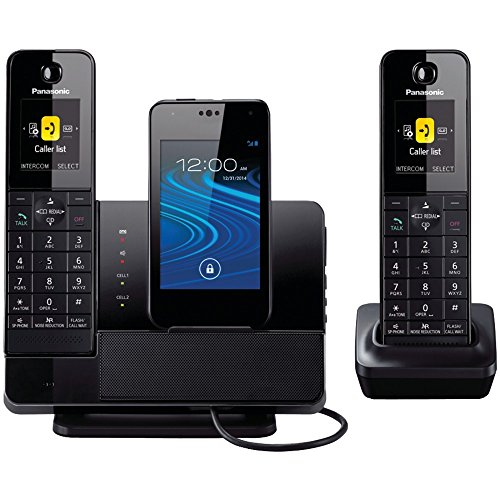 PANASONIC KX-PRD262B DECT 6.0 Plus Link2Cell(R) Bluetooth(R) Dock-Style System with 2 Handsets for Smartphones electronic consumer Electronics