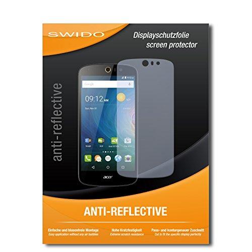 SWIDO Bildschirmschutz für Acer Liquid Z530 [4 Stück] Anti-Reflex MATT Entspiegelnd, Hoher Festigkeitgrad, Schutz vor Kratzer/Glasfolie, Schutzfolie, Bildschirmschutzfolie, Panzerglas Folie