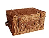 Wald Imports Brown Wicker 17' Picnic Basket
