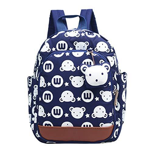 Haven shop Kinder-Rucksack mit Hasen-Tier-Motiv, niedlicher Kleinkind-Rucksack, mit Leine, für Jungen und Mädchen Navy