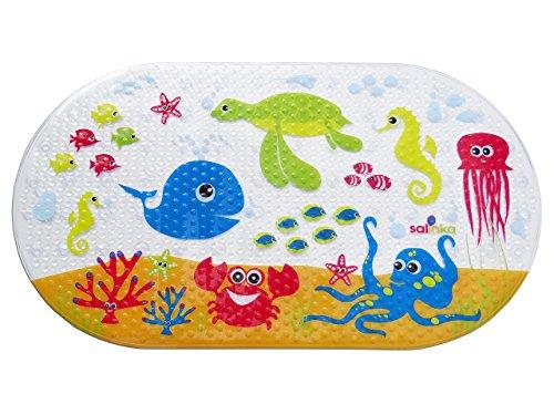 Salinka Alfombrilla de baño antideslizante para bebés con motivos del océano -...
