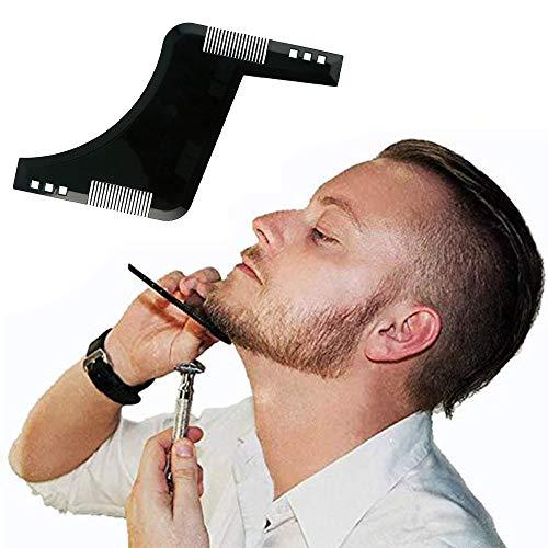 Snijden en onderhouden van het gezichtshaar – het perfecte cadeau-idee voor vaderdag baardvormingsgereedschap en styling-sjabloon voor perfecte uitlijning en randvorm in één.