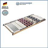 RAVENSBERGER DUOMED 7-Zonen-Teller-LEISTEN-BUCHE-Lattenrahmen | Starr | Made IN Germany - 10 Jahre GARANTIE | TÜV/GS + Blauer Engel - Zertifiziert | 90 x 200 cm