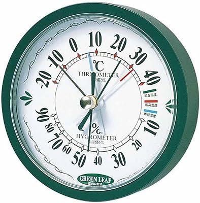 EMPEX (エンペックス) 最高最低温度計(湿度計付) TM-2393 グリーン